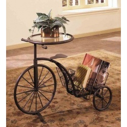 Side Table-Book Shelve Bicycle Design